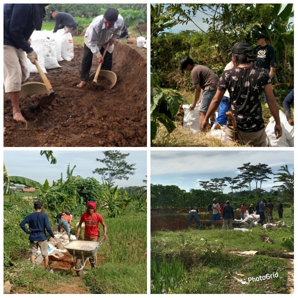 kegiatan PKTD ( Padat Karya Tunai Desa ) Desa Pasawahan kidul